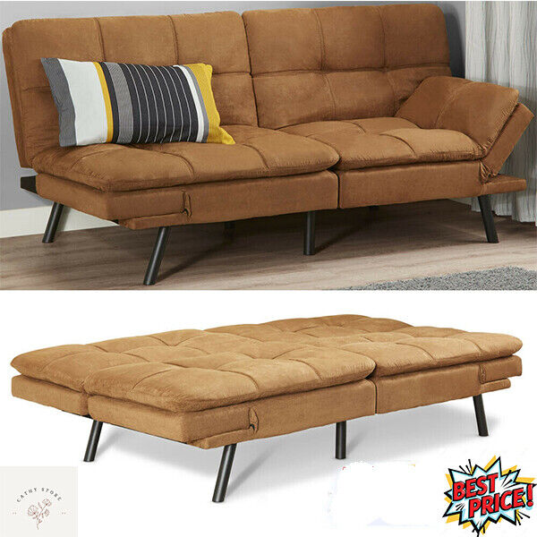 Memory Foam Futon Sofa Bed Couch Sleeper Convertible Foldable Loveseat FULL Size $169.00