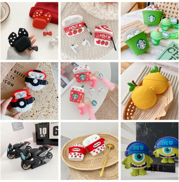 Cute 3D Cartoon Silicone Case Cover For Airpod AirPods 1 amp; 2 Airpods Pro Case $11.01