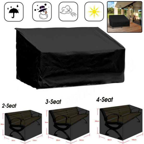 Outdoor Waterproof Garden Patio Furniture Cover for Bench Couch Sofa Cover Black