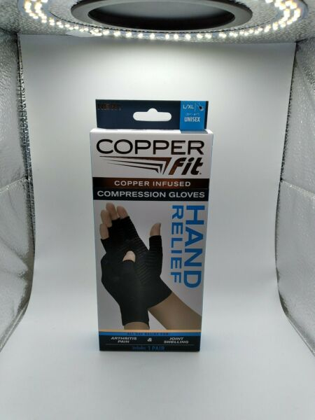 Copper Fit Hand Relief Compression Gloves L XL Unisex 1 Pair New