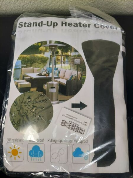 Stand Up Patio Heater Cover UV Resistant Waterproof Pulling Rope Design