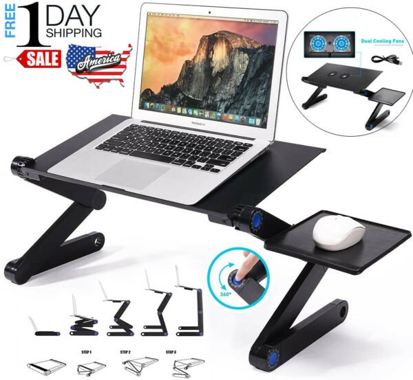 Portable Stand Bed Tray Sofa Adjustable Laptop Table Computer Desk Notebook Tray $22.00