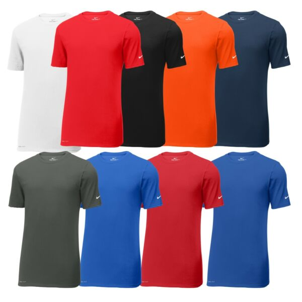 Nike Mens Dri FIT Cotton Poly T Shirt Short Sleeve Gym Workout Athletic Tee New $22.95