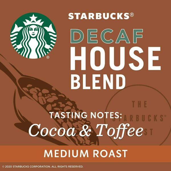 Starbucks coffee House Blend DECAF Keurig K Cups 72 Count AB conditi FREE SHIPP