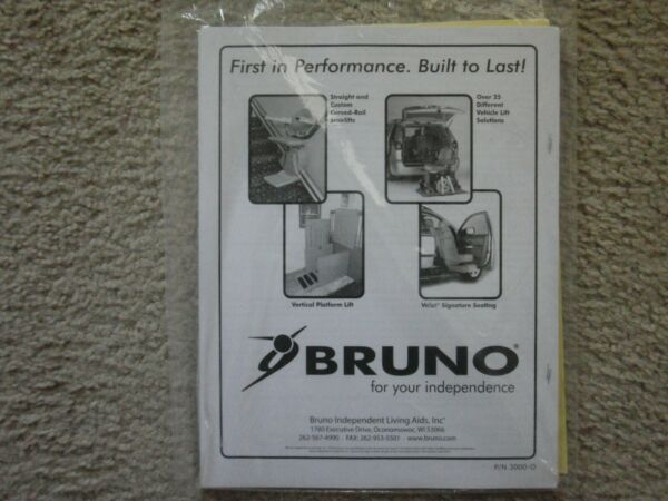 Bruno Chair Lift SRE 3000 Elan Straight Rail 2 Chairs Gently Used In KY