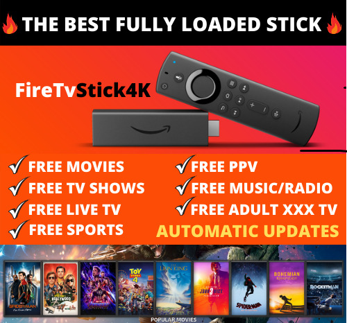 🔥FULLY LOADED🔥 4k Fire Stick Alexa Voice New Movies Sports