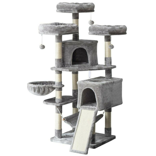 63quot; Cat Tree Condo Pet Furniture Activity Tower Play House with Perches Hammock $99.99