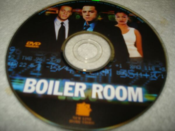 BOILER ROOM DVD DISC ONLY USED CLEANED TESTED FREESHIP NO TRACKING $3.39