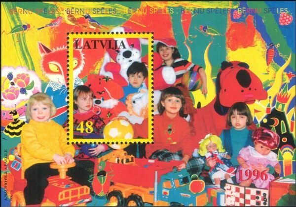 Latvia 1996 Children#x27;s Toys Trucks Dolls Dog Tractor Chess Fox 1v m s n31058 GBP 2.95