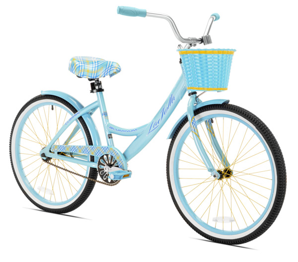 Kent 24quot; Cruiser Bike for Girls Lightweight Bicycle with Basket Light Blue NEW $209.99