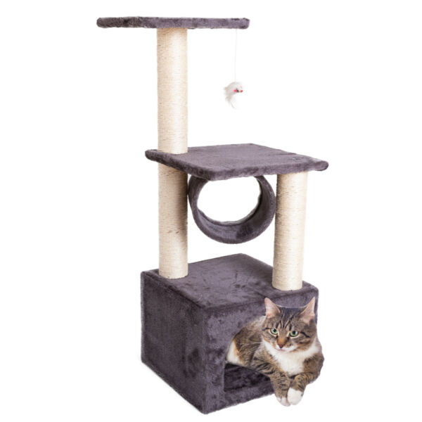 57quot;Cat Tree Condo Scratcher Pet Furniture Activity Tower Play House with Perches $38.74