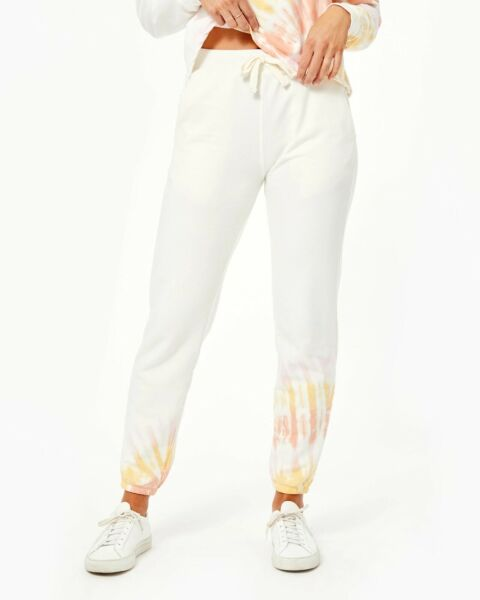 Electric And Rose Women Vendimia Tie Dye Joggers in Beam Wash Size Large $158 $75.00