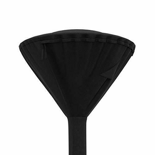 Basics Outdoor Round Stand Up Patio Heater Cover Black