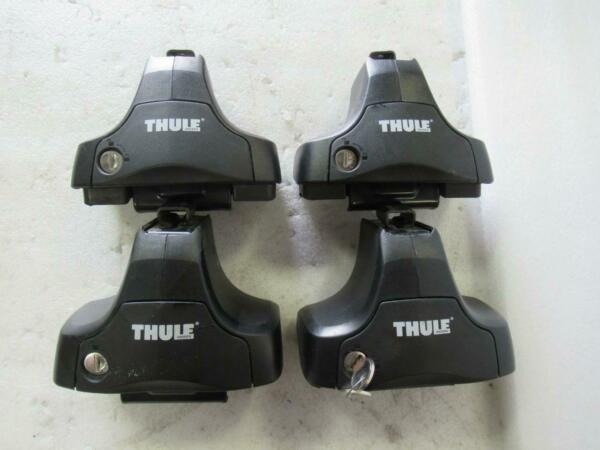 THULE 480R Rapid Traverse Feet Pack Set Of 4 w One Key System Lock And Keys $92.95