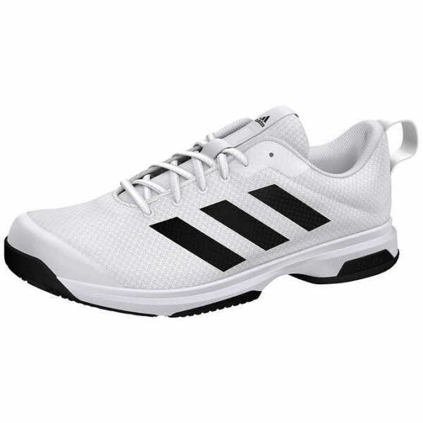 New Adidas Mens Running Shoes White Black Men#x27;s Athletic Sneaker FAST FREE SHIP