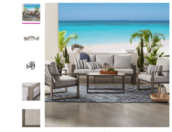 Better Homes amp; Gardens Belle Haven 4 Piece Conversation Outdoor Furniture Set M $400.00