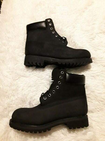Men#x27;s Black Timberland Boots Size 6.5W $60.00