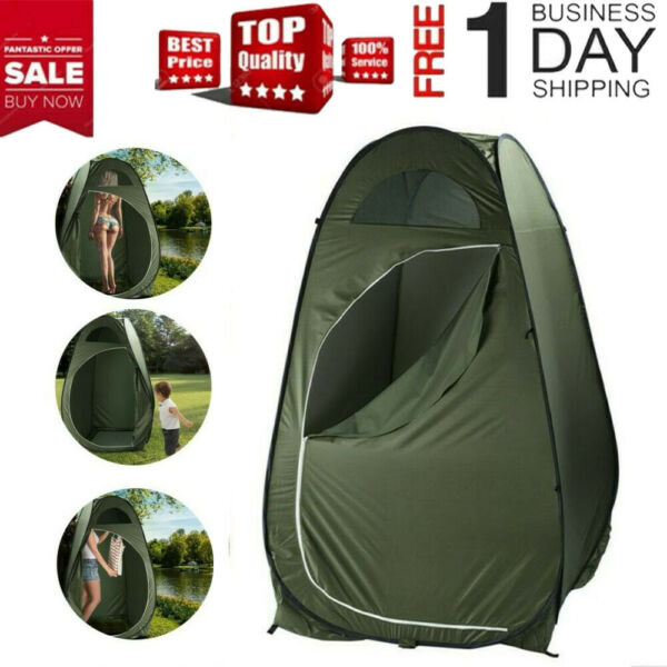 Outdoor Pop Up Privacy Tent Instant Portable Shower Tent Changing Room Toilet $28.61