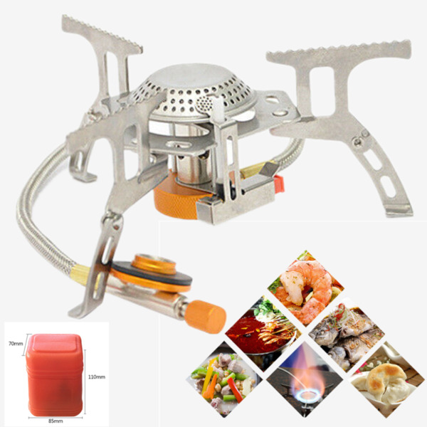 3500W Portable Gas Camping Stove Outdoor Mini Cooking Burner Picnic Gas Burner