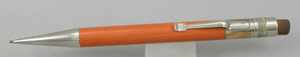 Wahl Eversharp Working Tog Orange Hard Rubber amp; Nickel 1.1mm Pencil 1920#x27;s