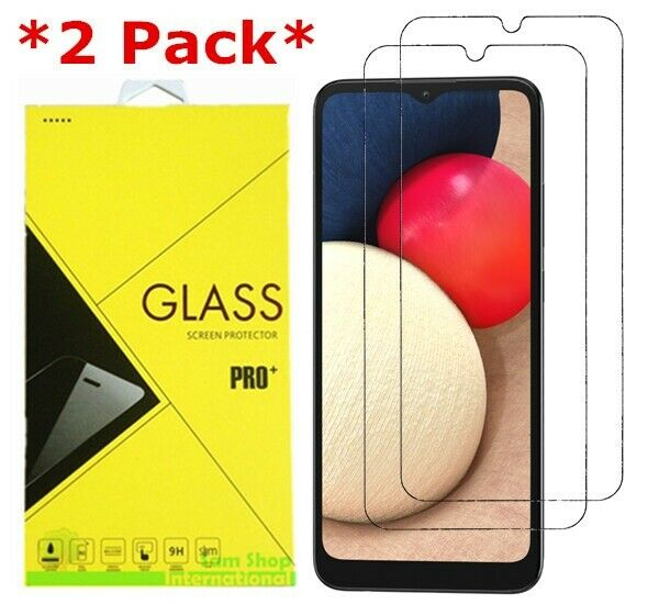2 Pack Premium Real Tempered Glass Screen Protector for SAMSUNG Galaxy A02s