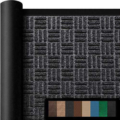 Amagabeli Large Outdoor Door Mats Rubber Shoes Scraper for Front 36quot; x 61.5quot; 1