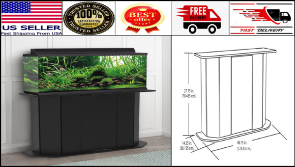 Deluxe 55 Gallon Aquarium Stand Storage Cabinet Fish Tank Holder Wood Doors New $119.99