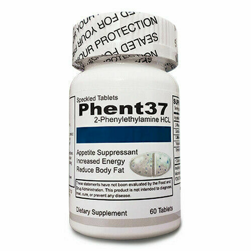 Phent37 60 TABLETS Fat Burner Appetite Suppressant 37.5 weight loss diet pills