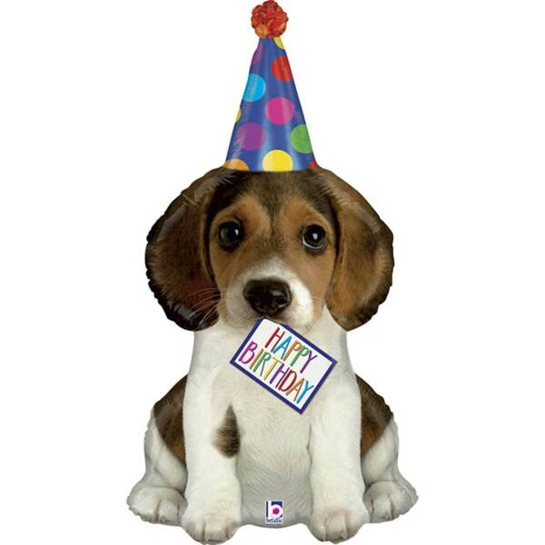 XL 41quot; Happy Birthday Puppy Dog Shaped Mylar Foil Balloon Party Decoration $6.99