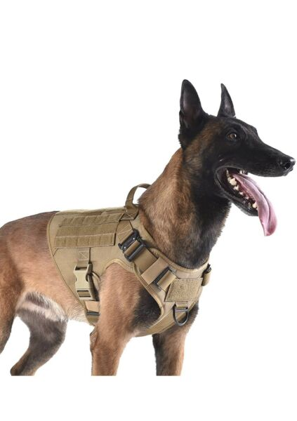ICEFANG Tactical Dog Harness with 2X Metal BuckleDog Walking Training MO... New $36.99