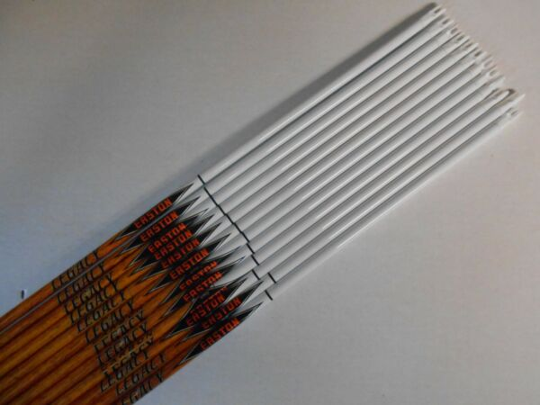 12 Easton Legacy Carbon 400 9.3GPI Arrow Shafts amp; Inserts WILL CUT LENGTH $89.99
