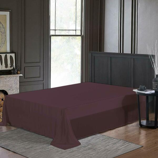 Purple Bed Spread Bedsheet Cover Comfort Cotton 400 TC Bed Sheet For Home $26.99