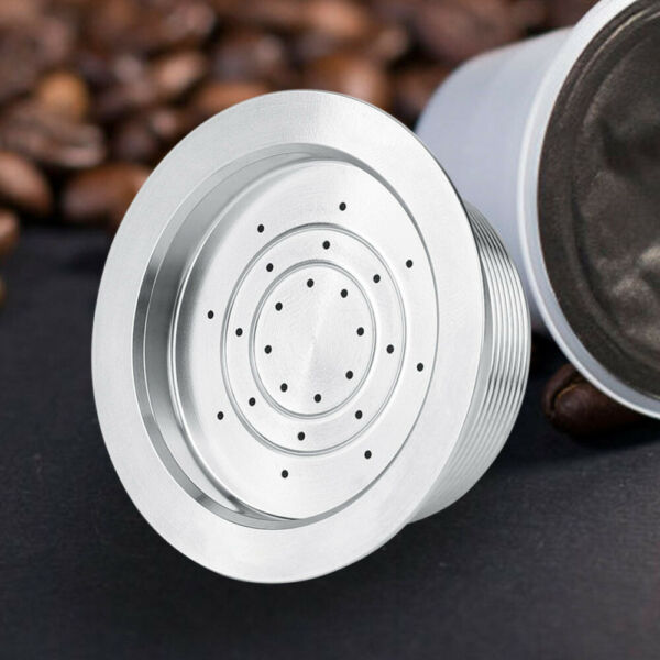 Refillable Reusable Cup Filter Pod for LAVAZZA MIO Coffee Maker W Brush Spoon