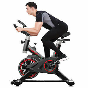 Indoor Exercise Bike Indoor Cycling Stationary Bike Belt Drive with LCD Monitor $174.99