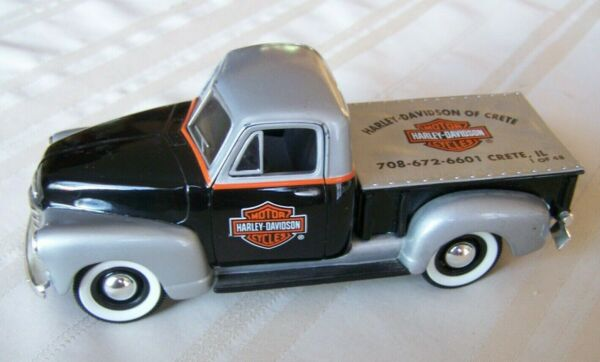 HARLEY 1952 CHEVY PICKUP TRUCK BANK DEALER EXCLUSIVE CRETE H.D. LIMITED 1 OF 48 $59.99