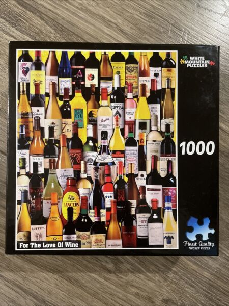 White Mountain FOR THE LOVE OF WINE by Charlie Girard 1000 Piece Puzzle $8.99
