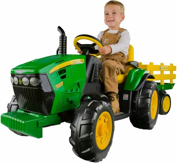 NEW Peg Perego John Deere Ground Force 12 volt Tractor Ride On Boys Kids Gift $270.00