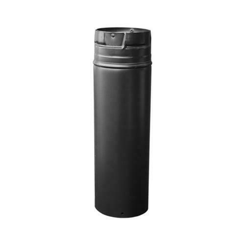 DuraBlack Wood Stove Pipe Black Single Wall Stainless Steel 6 x 24 In. $25.19