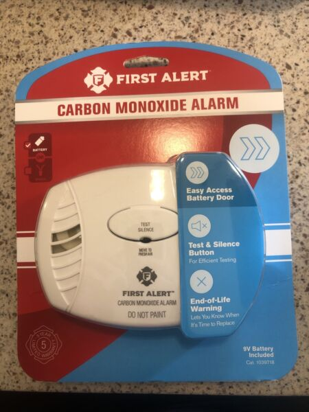 First Alert Carbon Monoxide Detector Battery Operated New $14.99