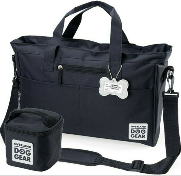 Overland Dog Gear Black Day Away Tote Bag and Carrier Black $25.49