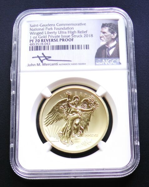 2018 National Park 1oz Gold Winged Liberty Ultra High Relief NGC PF70 Reverse PF $3300.00