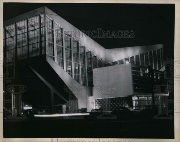 1958 Press Photo New sports arean at Essen West Germany cost 3 million to build $19.99