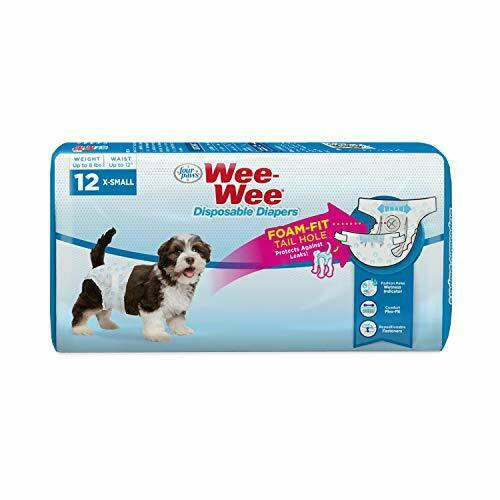 Four Paws Wee Wee Disposable Dog Diapers 12 Count X Small $12.57