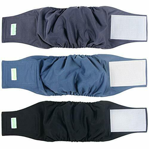 Washable Dog Diapers Washable Male Dog Belly Wrap Pack of 3 $15.30