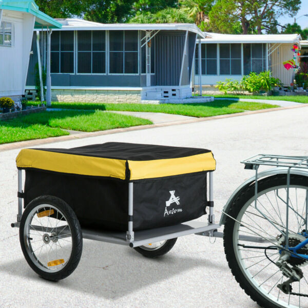 Two Wheel Bicycle Cargo Trailer Bike Trolley Cart Luggage Carrier Utility $121.27