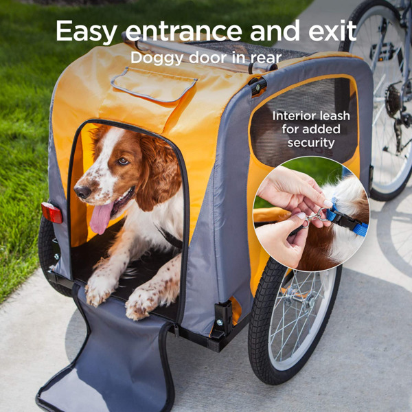 Bicycle Pet Trailer Bike Dog Cat Carrier Stroller Wagon Cart Small Carriage $237.99