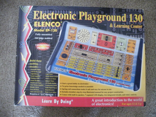 Elenco ELECTRONIC PLAYGROUND amp; LEARNING CENTER Model EP 130 Manual amp; Wires