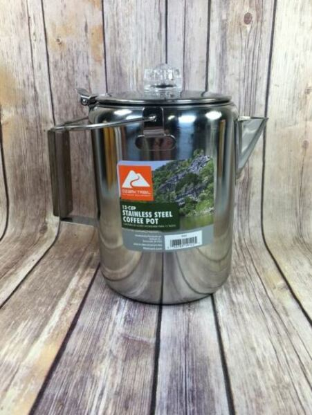 Ozark Trail 19122 Percolator Coffee Pot 12 Cup Stainless Steel new free ship