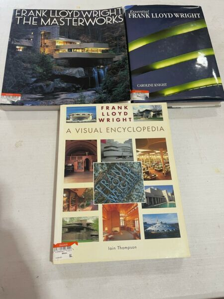 Lot of 3 Frank Lloyd Wright Coffee Table Books Architect Architecture