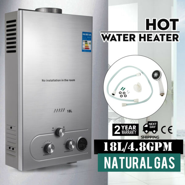 Natural Gas 18L Tankless Hot Water Heater Electric 5GPM On Demand Boiler Shower $125.90